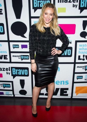 Hilary Duff - Bravos 'Watch What Happens Live' in NYC