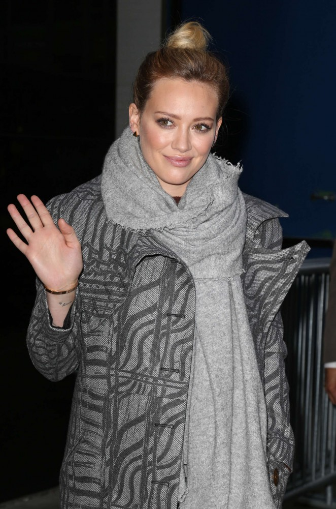 Hilary Duff at 'Good Morning America' Studios in New York City