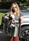 Hilary Duff at pilates class in Studio City