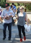 Hilary Duff - and family at the Farmers Market in Beverly Hills