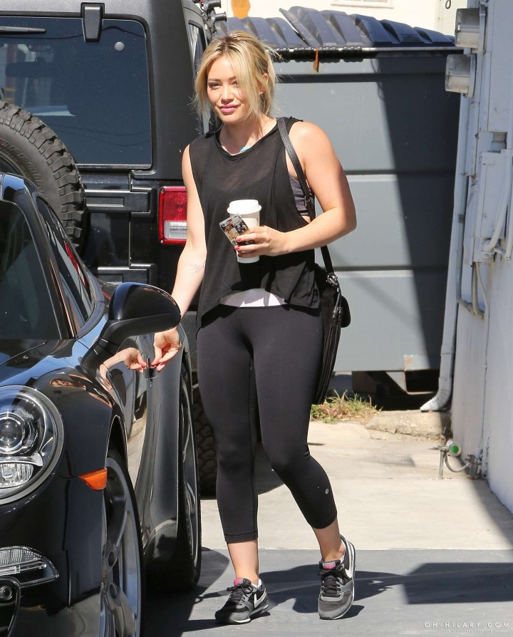 Hilary Duff at the gym in Los Angeles -02