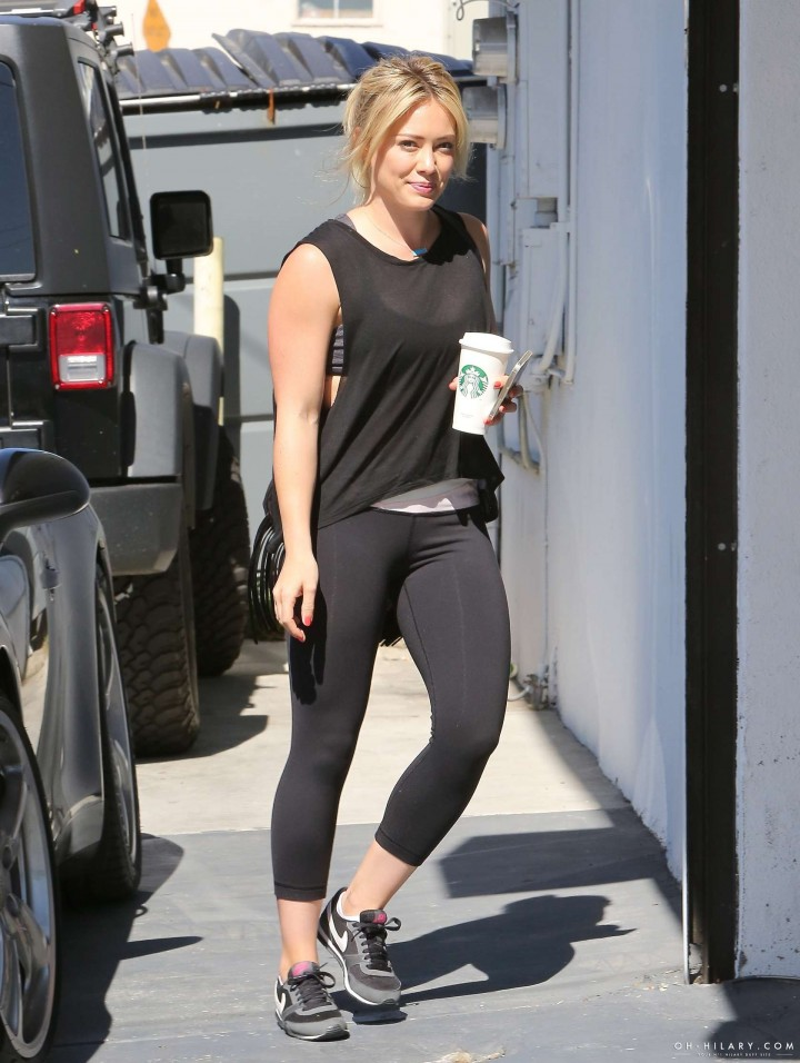 Hilary Duff at the gym in Los Angeles -04