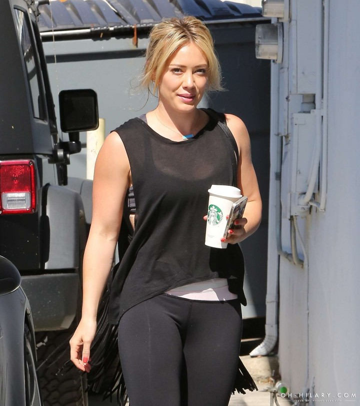 Hilary Duff at the gym in Los Angeles -10