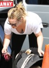 Hilary Duff at the Which Which Sandwich in Los Angeles
