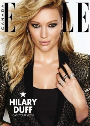 Hilary Duff - Elle Canada Magazine Cover (December 2014)