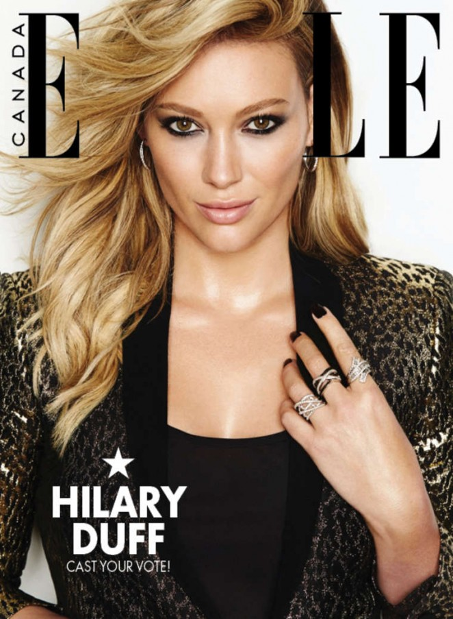 Hilary Duff - Elle Canada Magazine Cover (December 2014)