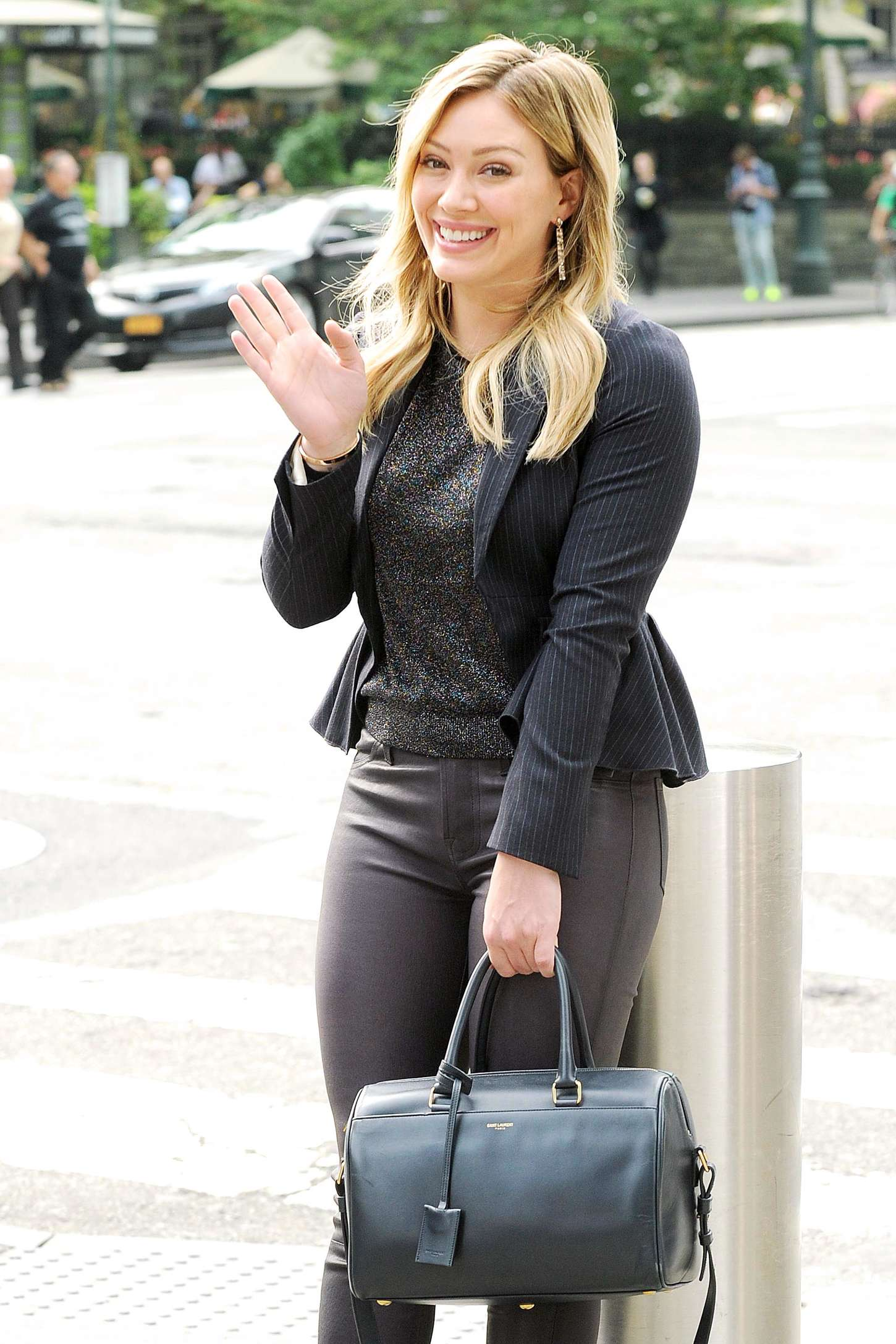 Hilary Duff In Leather Pants On Younger Set 01 Gotceleb