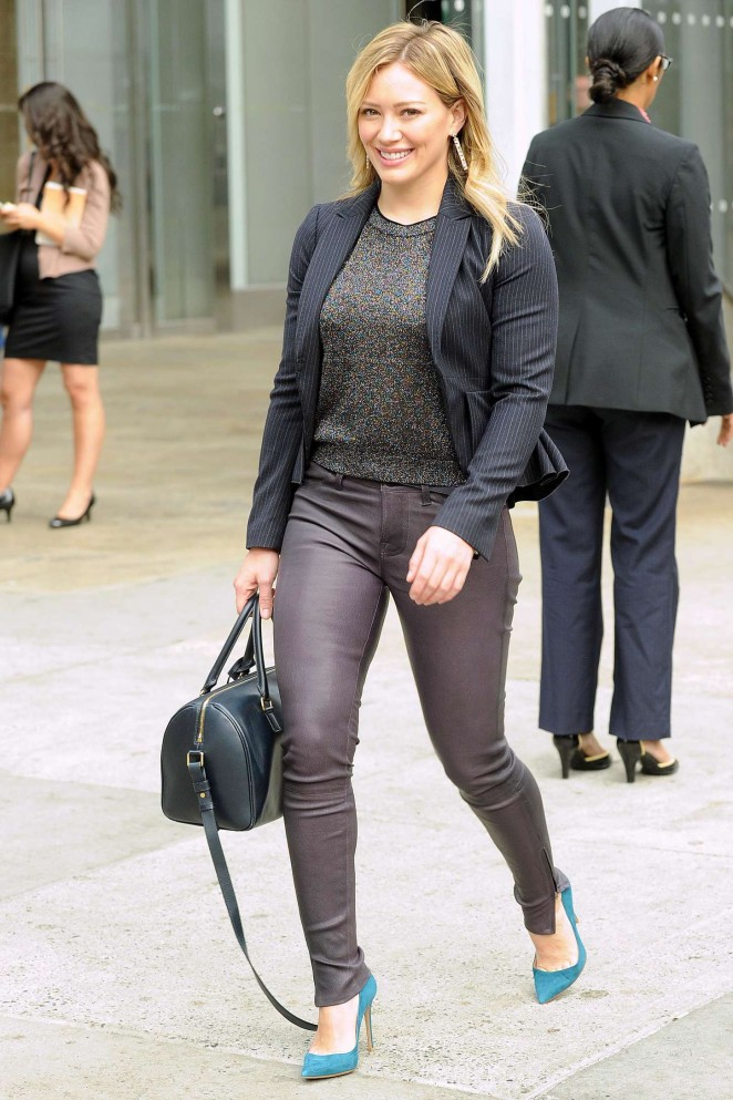 Hilary Duff in Leather Pants on Younger set -14