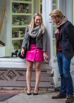 Hilary Duff in Pink Mini Skirt on Younger set -06