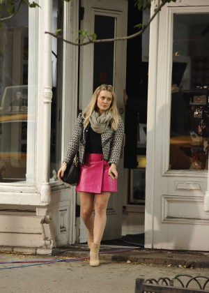 Hilary Duff in Pink Mini Skirt on Younger set -09