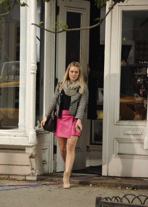 Hilary Duff in Pink Mini Skirt on Younger set -16