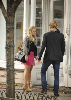 Hilary Duff in Pink Mini Skirt on Younger set -23