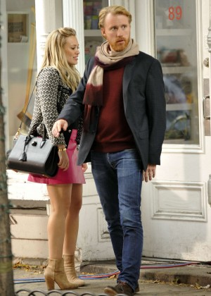 Hilary Duff in Pink Mini Skirt on Younger set -29