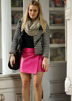 Hilary Duff in Pink Mini Skirt on Younger set -30