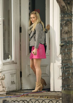 Hilary Duff in Pink Mini Skirt on Younger set -33