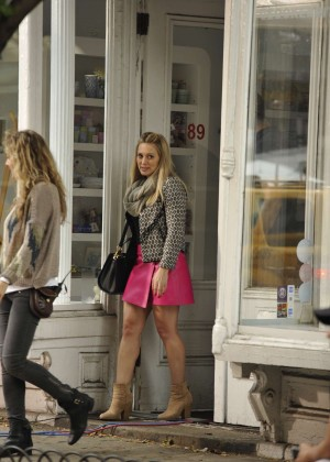 Hilary Duff in Pink Mini Skirt on Younger set -34