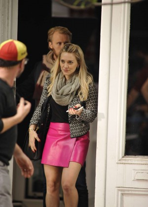 Hilary Duff in Pink Mini Skirt on Younger set -41