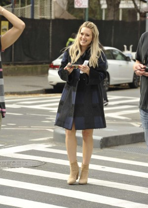 Hilary Duff in Pink Mini Skirt on Younger set -43