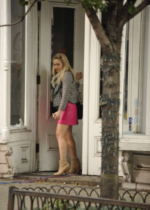 Hilary Duff in Pink Mini Skirt on Younger set -44
