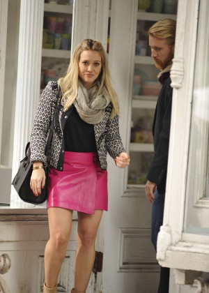 Hilary Duff in Pink Mini Skirt on Younger set -52