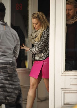 Hilary Duff in Pink Mini Skirt on Younger set -53