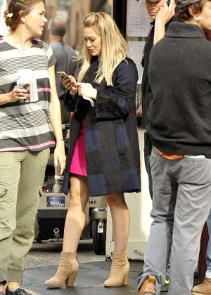 Hilary Duff in Pink Mini Skirt on Younger set -54