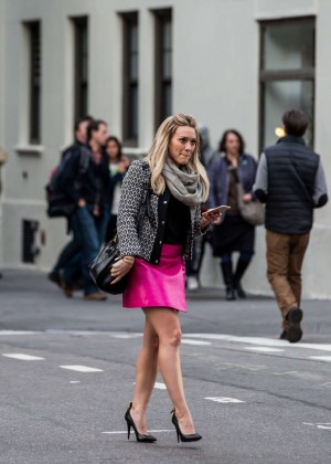Hilary Duff in Pink Mini Skirt on Younger set -63