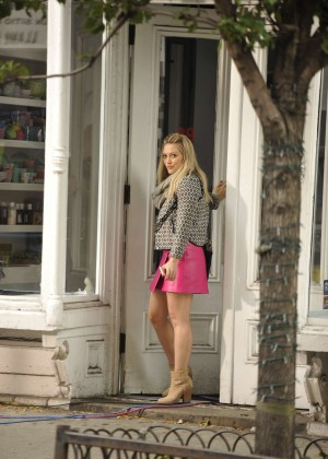 Hilary Duff in Pink Mini Skirt on Younger set -65