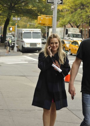 Hilary Duff in Pink Mini Skirt on Younger set -72
