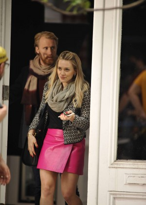 Hilary Duff in Pink Mini Skirt on Younger set -73