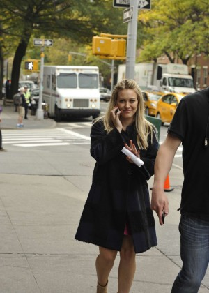 Hilary Duff in Pink Mini Skirt on Younger set -75