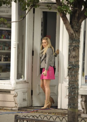 Hilary Duff in Pink Mini Skirt on Younger set -76
