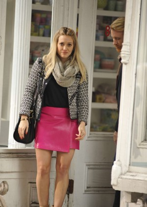 Hilary Duff in Pink Mini Skirt on Younger set -78