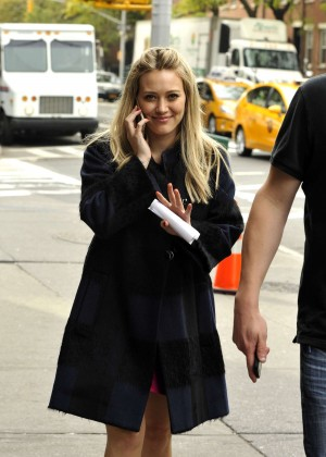 Hilary Duff in Pink Mini Skirt on Younger set -84