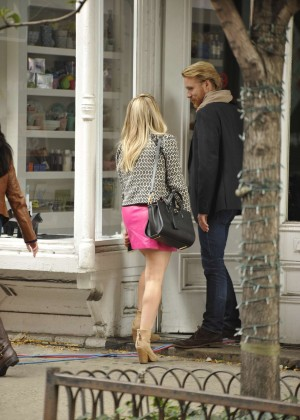 Hilary Duff in Pink Mini Skirt on Younger set -85