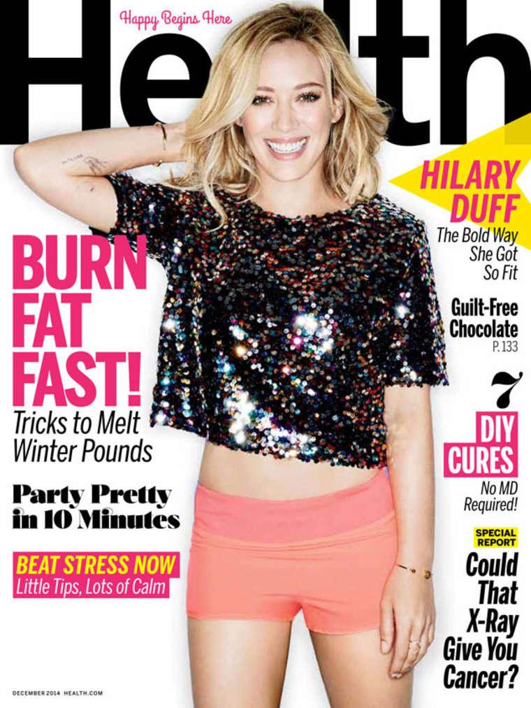 Hilary Duff - Health Magazine Cover (December 2014)