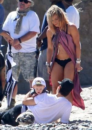 Hilary Duff bikini: Malibu 2014 -25