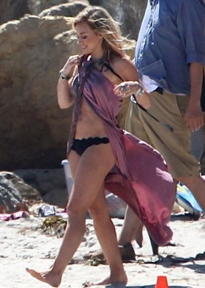 Hilary Duff bikini: Malibu 2014 -28