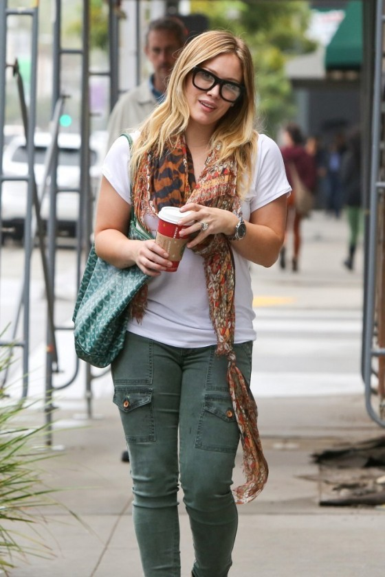 Hilary Duff in jeans, out and about in Beverly Hills