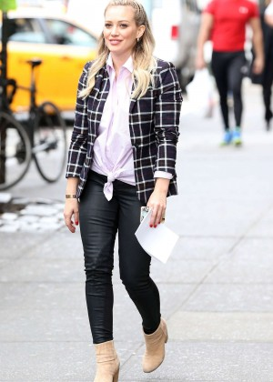 Hilary Duff in Tight Pants on 'Younger' Set In NYC