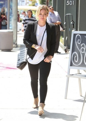 Hilary Duff in Tight Pants Out in West Hollywood