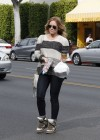 Hilary Duff in jeans out in Beverly Hills -33
