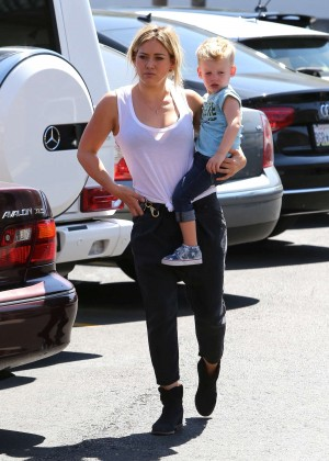 Hilary Duff - Out with her son in Hollywood