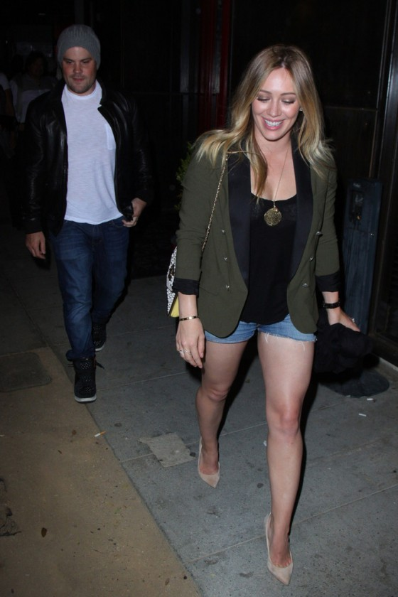 Hilary Duff Outside Mercato Di Vetro in West Hollywood