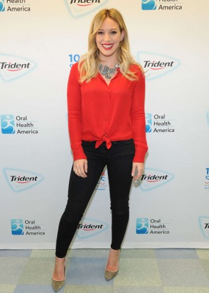 Hilary Duff - Promoting Trident Smiles Across America in NY