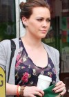 Hilary Duff - C-Thru to Lacey Bra While Shopping in Hollywood