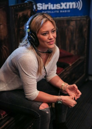 Hilary Duff at SiriusXM Hits 1's The Morning Mash Up Broadcast in LA