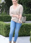 HIlary Duff - Tight jeans candids in West Hollywood