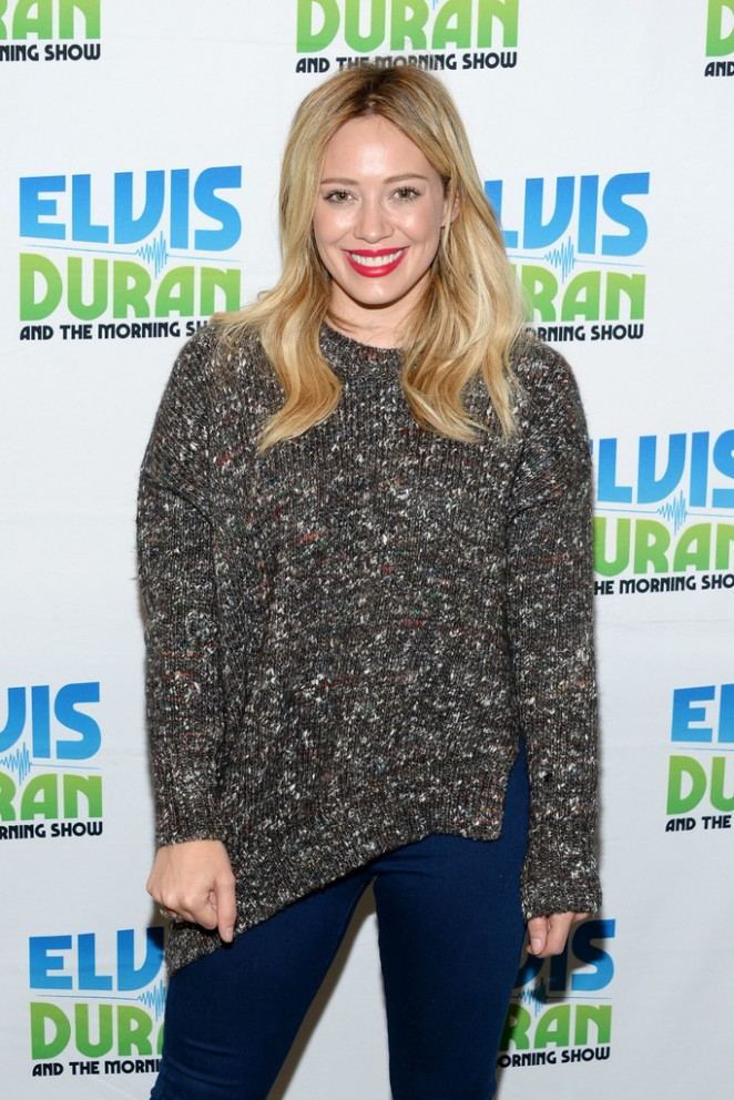 "Hilary Duff - Visits ""The Elvis Duran Z100 Morning Show"" in NYC"