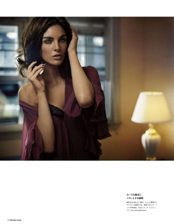 Hilary Rhoda Poses for Vincent Peters in Numero Tokyo's January/February 2013 Issue